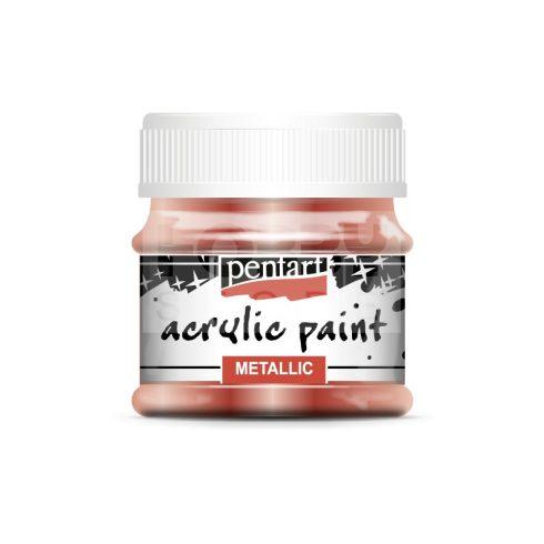 Pentart Metál bronz színű akril bázisú hobbi festék 50 ml