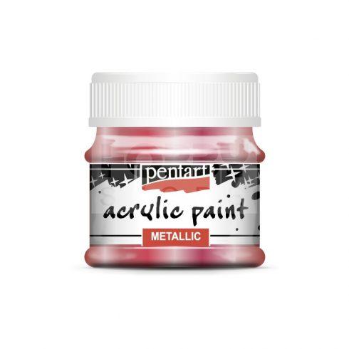 Pentart Metál vörösréz színű akril bázisú hobbi festék 50 ml