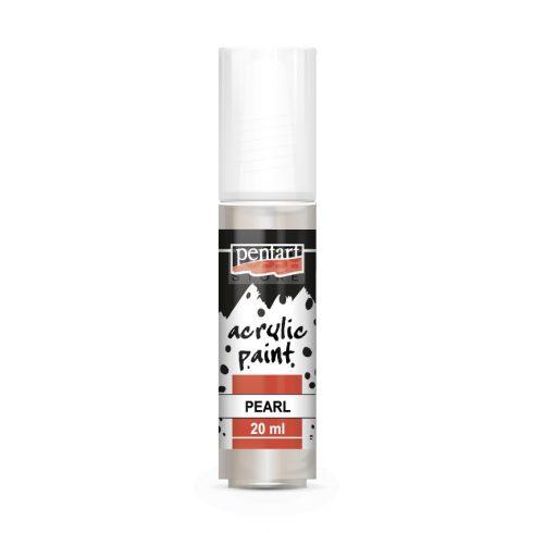 Pentart Gyöngyház fehér színű akril bázisú hobbi festék 20 ml