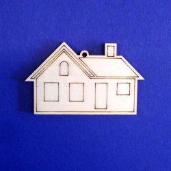 Pentart Fafigura, 5 db/csomag - ház 22836