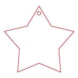 Pentart Fafigura, 5 db/csomag - csillag 22865