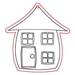 Pentart Fafigura, 5 db/csomag - ház 22930