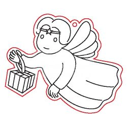 Pentart Fafigura, 5 db/csomag - angyal 22943