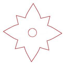 Pentart Fafigura, 5 db/csomag - csillag 22947