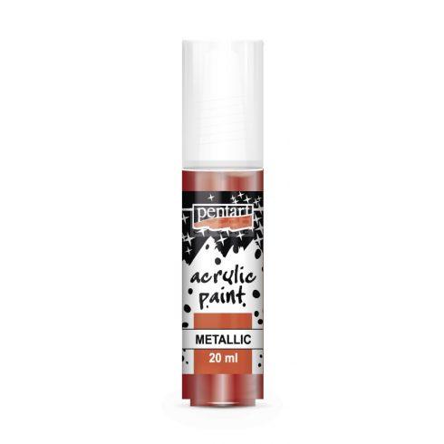 Pentart Metál bordó színű akril bázisú hobbi festék 20 ml