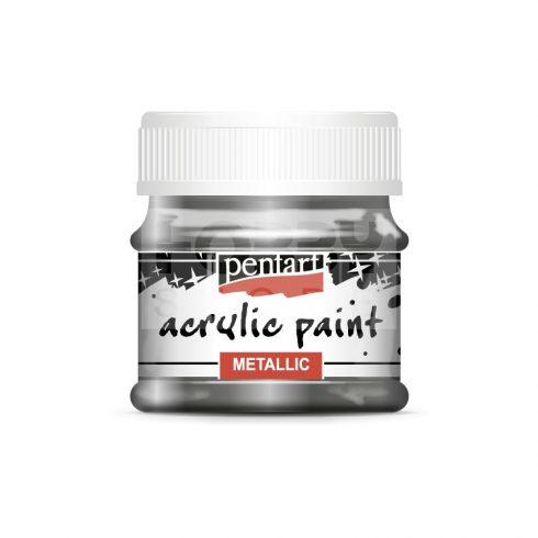 Pentart Metál grafit színű akril bázisú hobbi festék 50 ml
