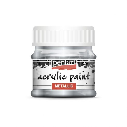 Pentart Metál ólom színű akril bázisú hobbi festék 50 ml