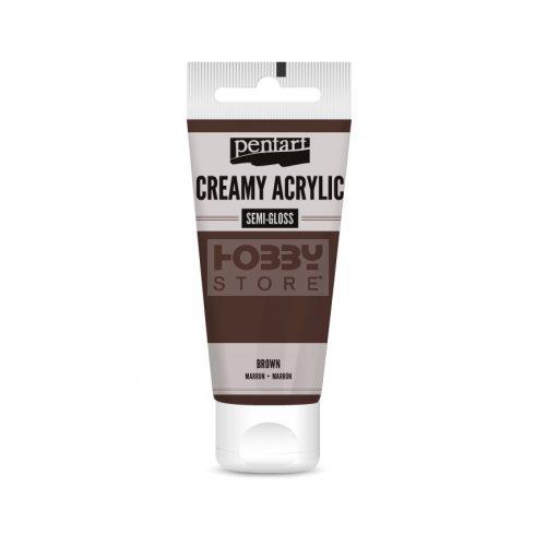 Pentart selyemfényű barna színű akril bázisú krémes hobbi festék 60 ml