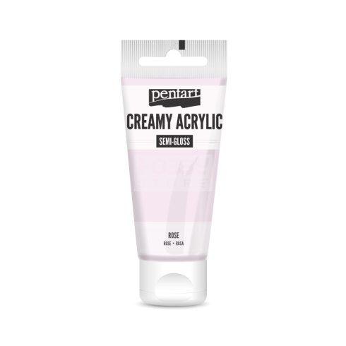 Pentart selyemfényű rózsaszín színű akril bázisú krémes hobbi festék 60 ml