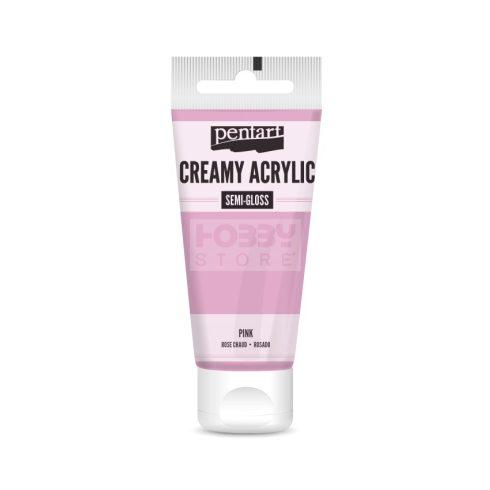 Pentart selyemfényű pink színű akril bázisú krémes hobbi festék 60 ml