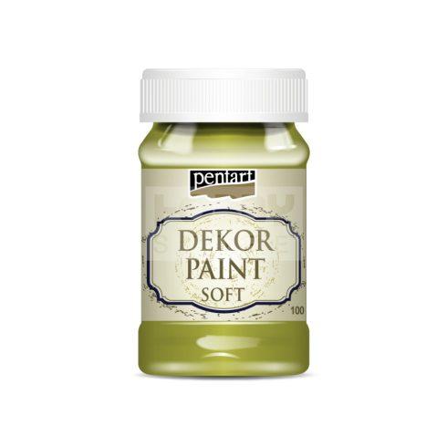 Pentart Dekorfesték lágy (chalky) sárgászöld 100 ml 29334