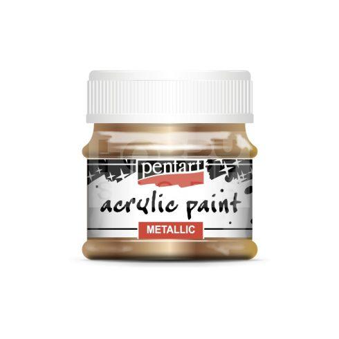 Pentart Metál sárgaréz színű akrilfesték - hobbi festék 50 ml 29357