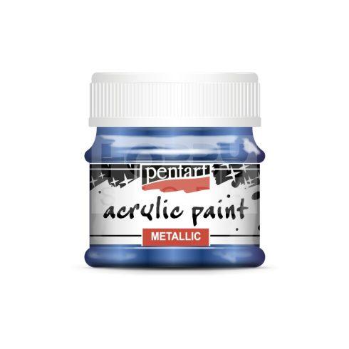 Pentart Metál kobaltkék színű akril bázisú hobbi festék 50 ml