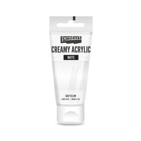 Pentart Matt fehér színű akril bázisú krémes hobbi festék 60 ml