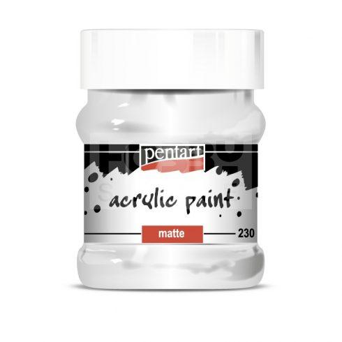 Pentart Matt fehér színű akril bázisú hobbi festék 230 ml 3232