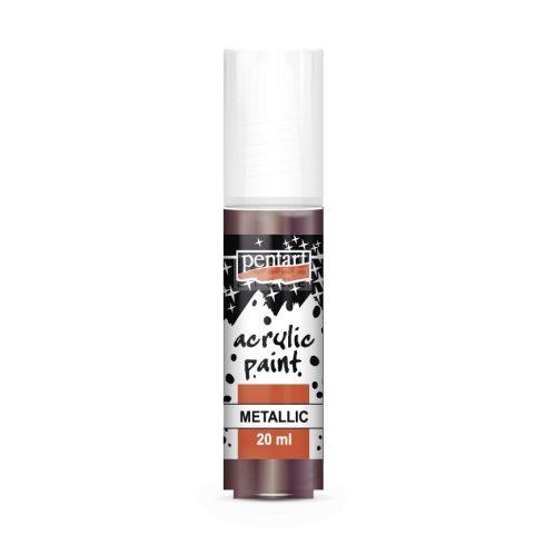Pentart Metál padlizsán színű akril bázisú hobbi festék 20 ml