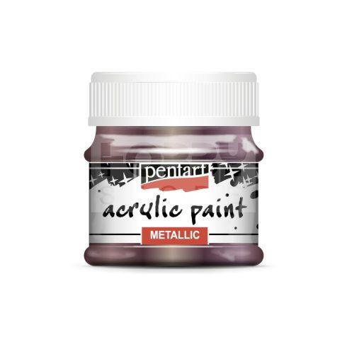Pentart Metál padlizsán színű akril bázisú hobbi festék 50 ml