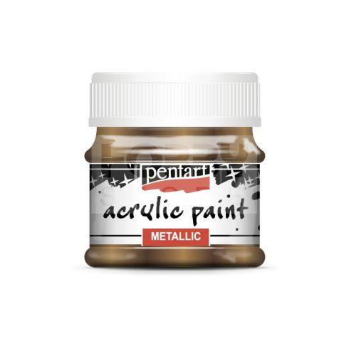 Pentart Metál csillogó bronz színű akrilfesték - hobbi festék 50 ml 3506