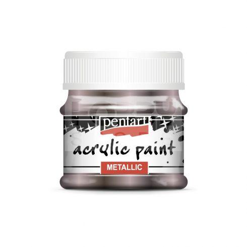 Pentart Metál csillogó lila színű akril bázisú hobbi festék 50 ml