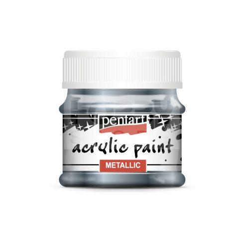 Pentart Metál csillogó kék színű akril bázisú hobbi festék 50 ml