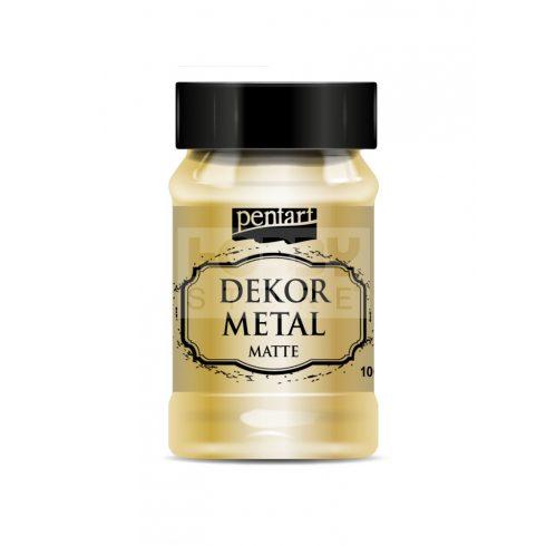 Pentart Dekormetál matt festék arany 100 ml 35107