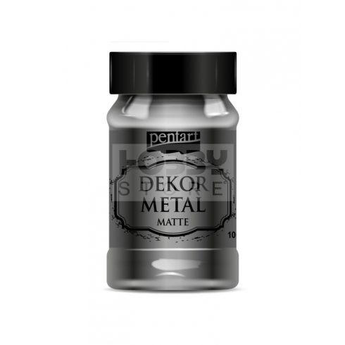Pentart Dekormetál matt festék antracit 100 ml 35206