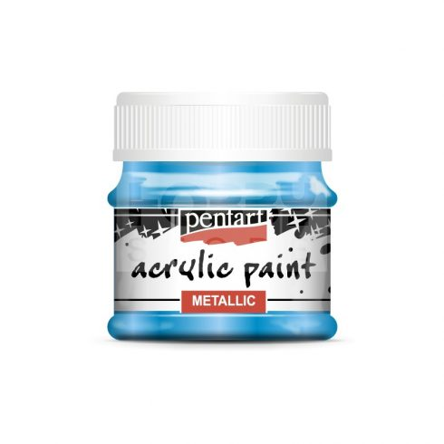 Pentart Metál kék színű akrilfesték - hobbi festék 50 ml 3530