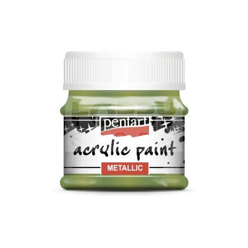 Pentart Metál zöld színű akril bázisú hobbi festék 50 ml