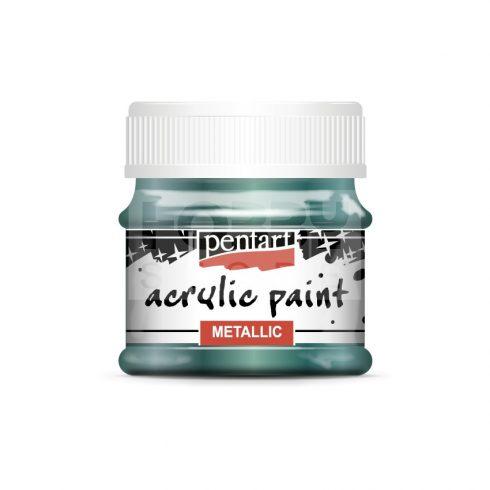 Pentart Metál zöldeskék színű akril bázisú hobbi festék 50 ml