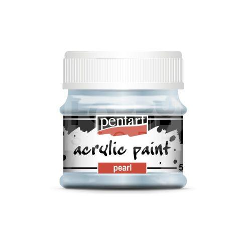 Pentart Gyöngyház kék színű akril bázisú hobbi festék 50 ml