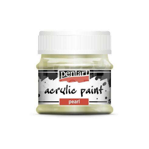 Pentart Gyöngyház zöld színű akril bázisú hobbi festék 50 ml