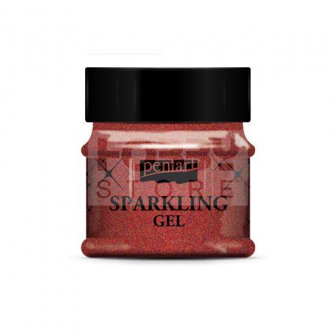 Pentart Csillogó gél 50 ml piros arany 36076