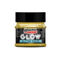 Pentart Glow glitterpaszta 50 ml arany 36086