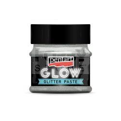 Pentart Glow glitterpaszta 50 ml ezüst 36087