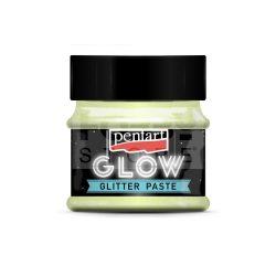 Pentart Glow glitterpaszta 50 ml szivárvány kék 36088