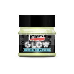 Pentart Glow glitterpaszta 50 ml szivárvány zöld 36089