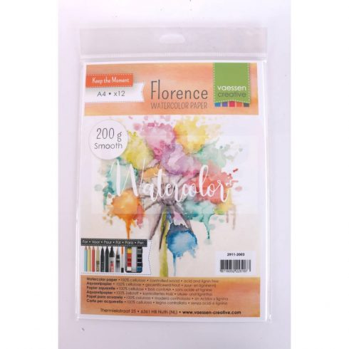 Pentart Akvarell papír A4 200 g 12 db/csomag 36309