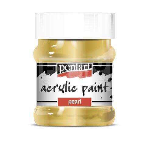 Pentart Metál arany színű akril bázisú hobbi festék 230 ml