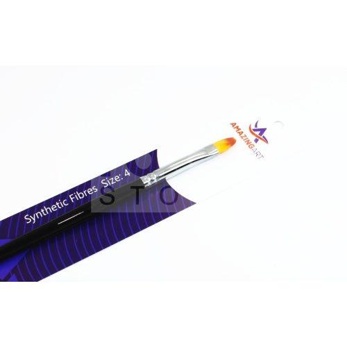 AMAZING ART 4-es lekerekített szélű szintetikus lapos ecset 5902641612992