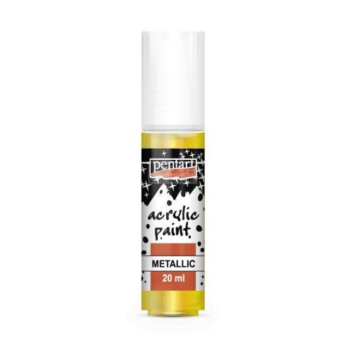 Pentart Metál sárga színű akril bázisú hobbi festék 20 ml