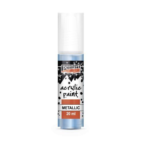 Pentart Metál világoskék színű akril bázisú hobbi festék 20 ml