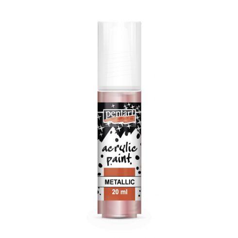 Pentart Metál rózsaszín színű akril bázisú hobbi festék 20 ml