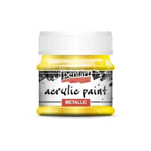 Pentart Metál sárga színű akril bázisú hobbi festék 50 ml