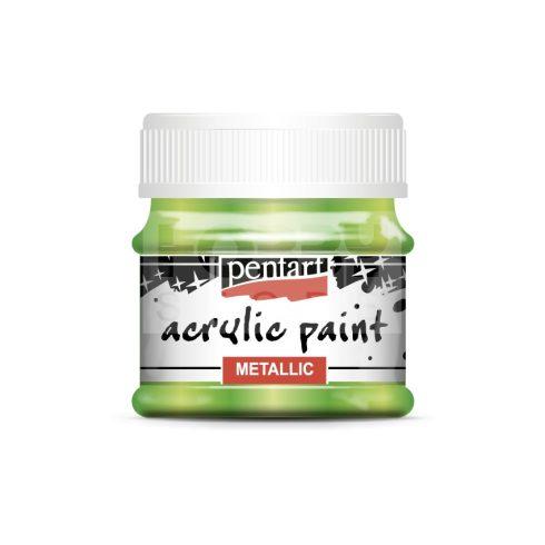 Pentart Metál világoszöld színű akril bázisú hobbi festék 50 ml