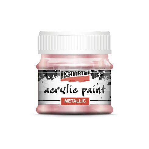 Pentart Metál rózsaszín színű akril bázisú hobbi festék 50 ml