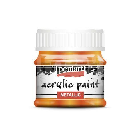 Pentart Metál narancs színű akril bázisú hobbi festék 50 ml