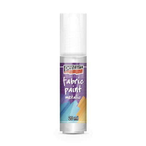Pentart Textilfesték metál gyöngyház fehér 20 ml 6263