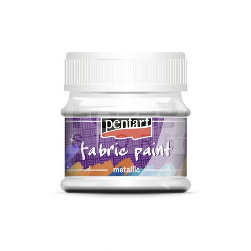 Pentart Textilfesték metál gyöngyház fehér 50 ml 6270