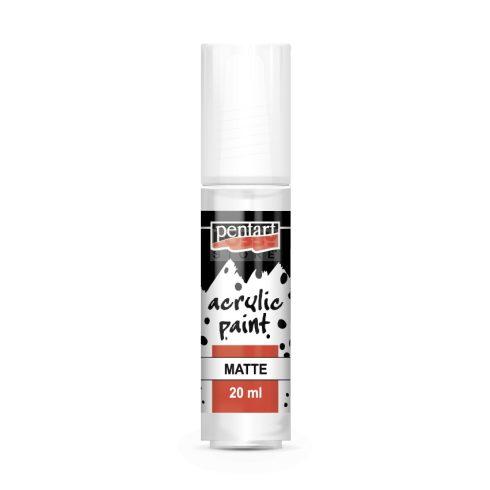 Pentart Matt fehér színű akrilfesték - hobbi festék 20 ml 83