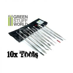 Green Stuff World 10 darabos formázó készlet (10x Sculpting Tools Set) 8436554360123ES